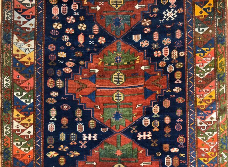 Classic Caucasian - 1910s Antique Kazak Rug - Tribal Nomad Carpet - 6.1 X 10 Ft