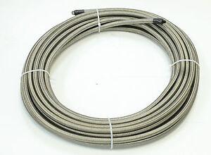 10 Feet Stainless Steel Braided 1500 PSI -6AN AN6 6-AN Oil Fuel Gas Hose Line