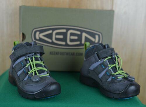 KEEN Hikeport Mid Waterproof Hiking Boots Magnet/Greenery Kids 8 US NIB