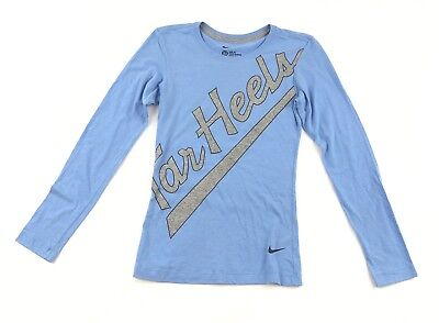Nike Women's XS Dri-FIT Long Sleeve Shirt North Carolina UNC Tar Heel Graphic