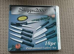 SHAPPU 2000 10PC S/S PROFESSIONAL CUTLERY KNIVES SET Geelong Geelong City Preview