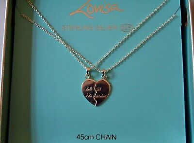 Sterling Silver BEST FRIENDS Necklace(s) 2 Pieces BRAND NEW in Original Box (Best Fine Jewelry Brands)