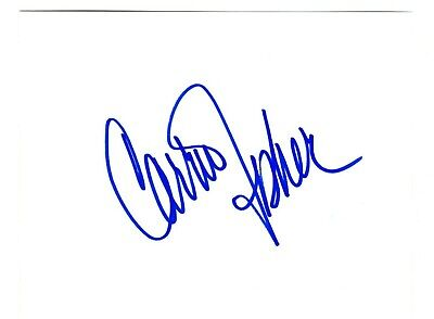 Carrie Fisher signed card