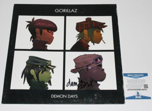 GORILLAZ DAMON ALBARN SIGNED 'DEMON DAYS' ALBUM VINYL RECORD LP BECKETT COA BAS