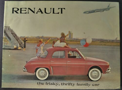 1960 Renault Brochure 4CV Dauphine Sedan Caravelle Convertible Nice Original 60