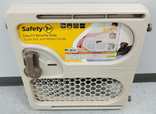 Safety 1st Easy Fit Pressure Mounted Security Gate Beige Excellent Shape