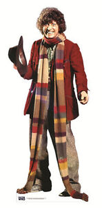 TOM-BAKER-Doctor-Who-LIFESIZE-CARDBOARD-CUTOUT-STANDEE-STANDUP-4th-fourth-dr-doc