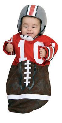 RUBIE'S FOOTBALL PLAYER BABY BUNTING w/ HELMET COSTUME! NEW [SIZE NEWBORN]](Newborn Football Costume)