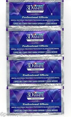 Crest Luxe 3D White Professional Effects Whitestrips Teeth Whitening Strips New