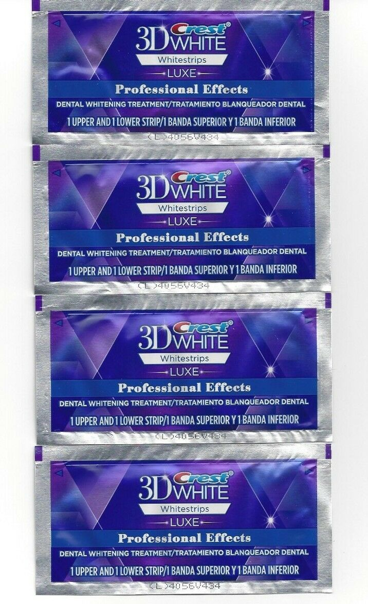 *Crest LUXE 3D White Professional Effects Whitestrips Teeth