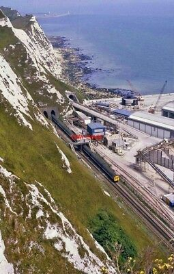 PHOTO  SHAKESPEARE TUNNEL WEST PORTAL AND CHANNEL TUNNEL CONSTRUCTION SITE. 25.6