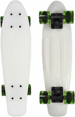 "Penny 22"" inch Skateboard Glow / Green Transparent Wheels"