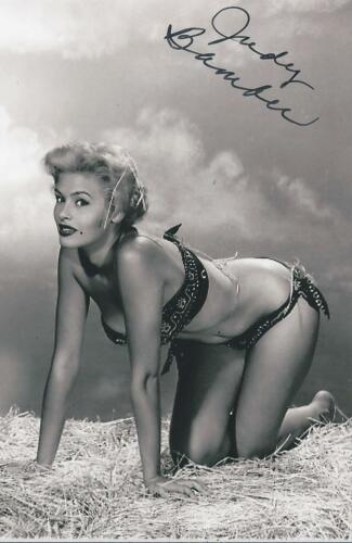 Judy Bamber signed/auto Pin Up Model Bombshell Actress Rare COA LOOK!!