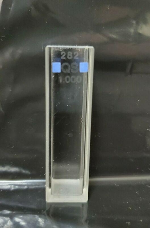 Hellma 282 QS 1.0 mL Quartz Cuvette for UV Spectroscopy