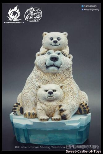 Keep Originality Crow Nest Wild International Staring Marathon Polar Bears Resin