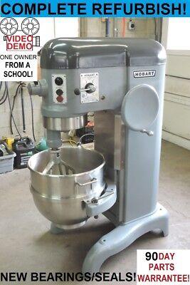 Hobart H600t 60 Qt Quart Rare 1 Phase Bakery Pizza Dough Mixer From A School