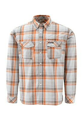 Simms KENAI Long Sleeve Shirt ~ Grey Plaid NEW ~ Size XL ~ Closeout