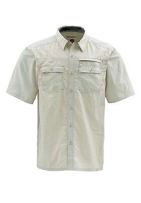 Simms CUDA Short Sleeve Shirt ~ Stone NEW ~ Closeout Size Small