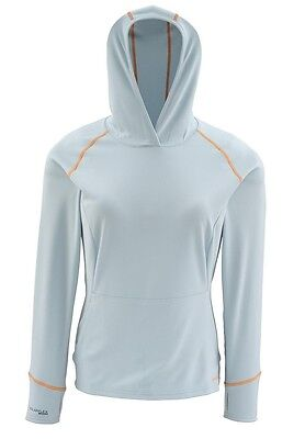 Simms Women's Horizon Long Sleeve Hoody ~ Aqua NEW ~ Closeout Size Small