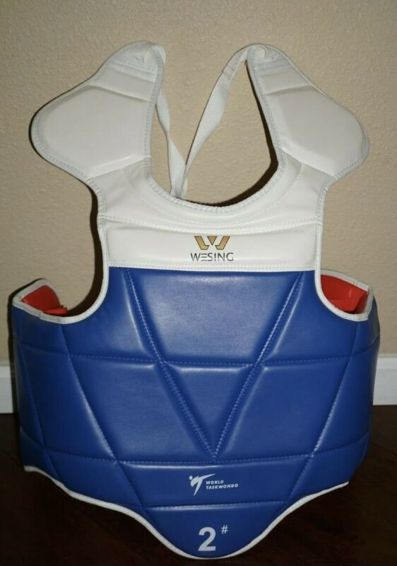 Wesing Taekwondo Chest Protector Chest Guard PU WTF Approved