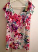 FOREVER NEW FLORAL 100% SILK DRESS SIZE 14 Banksia Grove Wanneroo Area Preview