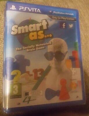 SMART AS Playstation Vita PSVITA Puzzle Video Game UK Brand NEW Sealed
