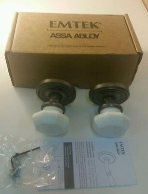 Emtek Dummy Set (Emtek - 8050OTMUS15A - Dummy Set, Milk Glass Knobs, Pewter Finish )