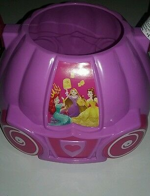 Disney Princess Carriage Hard Plastic Basket for Easter Halloween Valentines Day