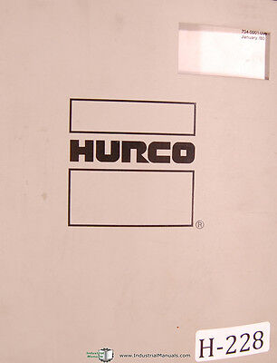 Hurco Cnc Mb-ii Three Axis Milling Machine Owners Manual 1980