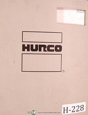 Hurco Cnc Mb-ii Three Axis Milling Machine Owners Manual 1980