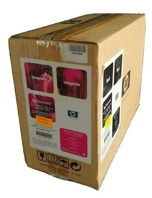 Hp 1000 2000 Electroink 5 Cans Magenta 5 Cans Black Unopened. 10 Cans In Total