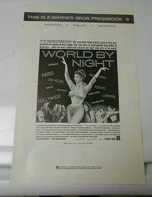 1961 WORLD BY NIGHT Press Book Kit Documentary FN+