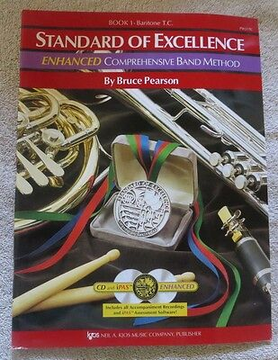 Musical Instruments & Gear Lovely Kjos Pw22tc Standard Of Excellence Enhanced Book 2 Baritone Tc Instruction Books, Cds & Video