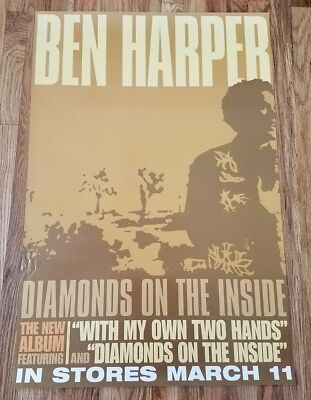 BEN HARPER - Diamonds On The Inside Record Release Promo Poster 2003