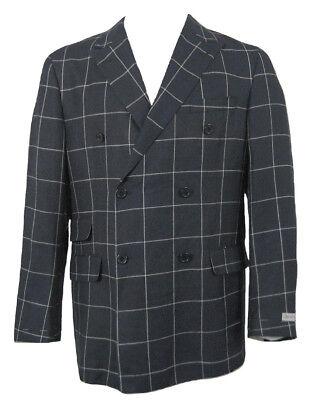 NEW $1295 Hickey Freeman Wool Silk Linen Sportcoat (Blazer)! 42 R  Navy USA Made
