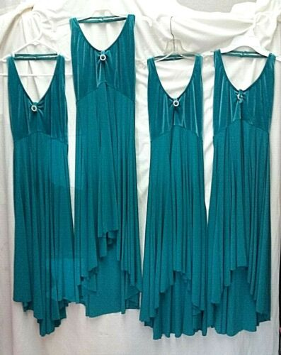 Lot of 4 Lyrical / Contemporary Dance Dress Costumes by Balera 3 M 1 L Adult