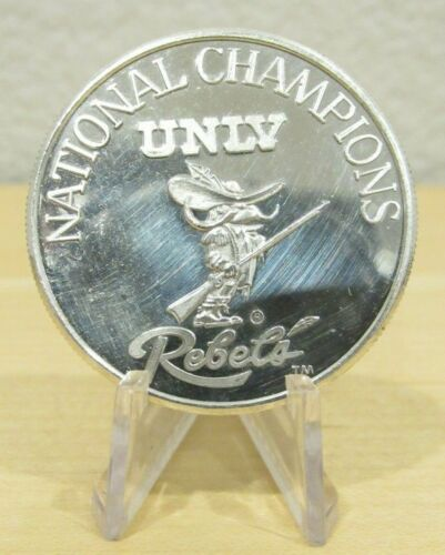 1990 UNLV REBELS NCAA Final Four 1 Troy Oz. .999 Fine Silver Round - Nevada NV