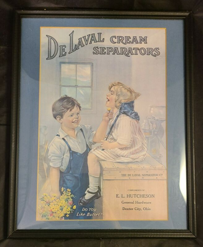 De Laval Cream Separators Ad Sign E.L. Hutcheson *k69