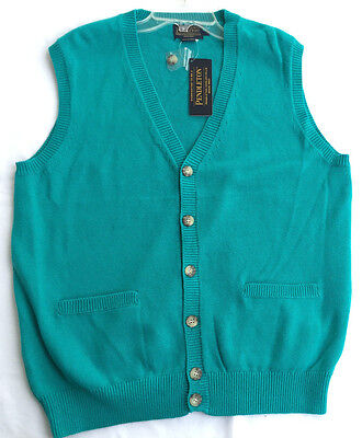 Pendleton BF695-63837 Cashmere Cotton Knit Cardigan Sweater Vest Men's M new
