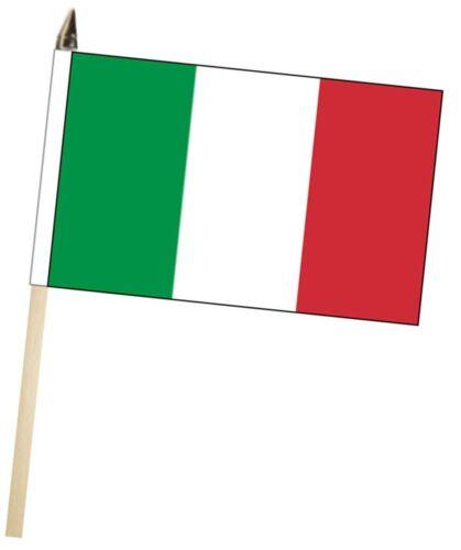 Italy Large Hand Waving Courtesy Flag