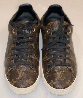 Authentic Louis Vuitton Monogram Frontrow Sneakers 37 1/2 US 6.5