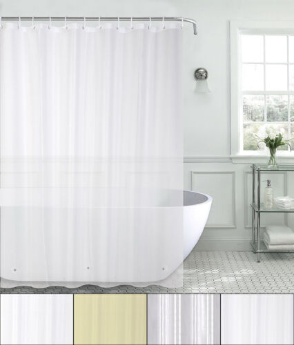 100% PEVA Heavyweight 8 Gauge Shower Curtain Liner 70″x72″ Bath