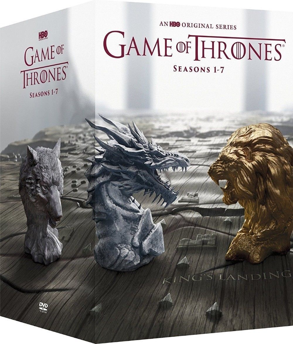Купить Game of Thrones: The Complete 1-7 Seasons 1 2 3 4 5 6 7(DVD, 2017) 34-Dis BoxSet