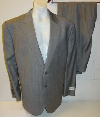 """NEW Jack Victor Grey Check Suit Jacket 50PS & Trousers 51"""" Portly Short RRP £755"""