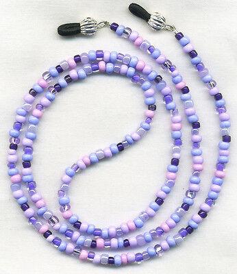 Artsy PURPLE MIX Eyeglass~Glasses Holder Necklace Leash Chain *Custom Length*