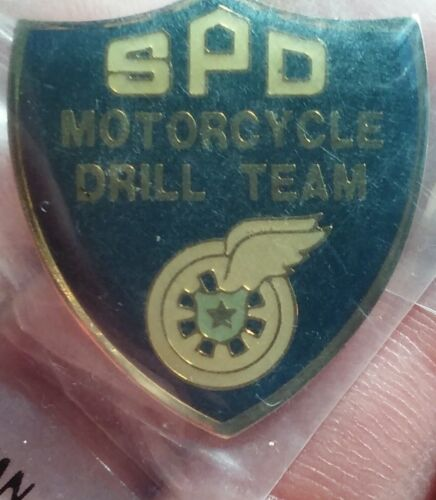 SPD Motorcycle Drill Team shield pin Seattle Police Department