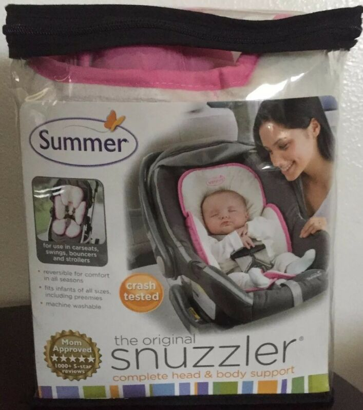 Snuzzler Baby Girl Reversible Pink Cream Stroller Car Seat Head Body Support