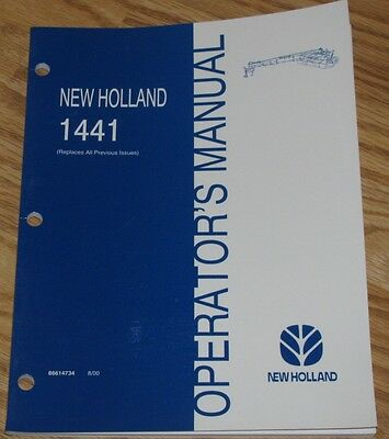 New Holland 1441 Discbine Mower-conditioner Operators Owners Manual 86614734 Nh