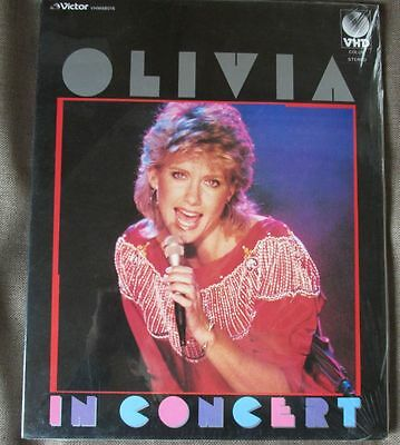 Sealed! OLIVIA NEWTON-JOHN In Concert JAPAN-ONLY VHD w/Slip Case+Insert VHM68015