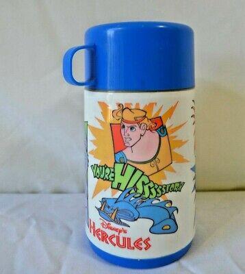 Disney Vintage HERCULES Aladdin Thermos 3 pieces 8oz. Plastic
